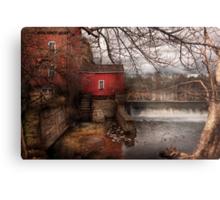 Mill - Clinton, NJ - The mill and wheel Metal Print