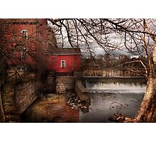 Mill - Clinton, NJ - The mill and wheel Photographic Print