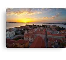 Zadar from above Canvas Print