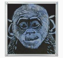Bonobo Linocut Print One Piece - Short Sleeve