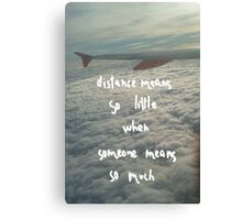 All about distance. (2) Canvas Print