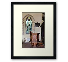 Pulpit and glass Framed Print