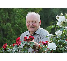 Portrait of grower of roses Photographic Print