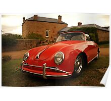 Porsche 356, Pooley Wines, Tasmania Poster