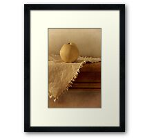 apple pear on a table Framed Print