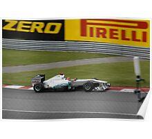 Formula 1 in Montreal 2011 Mercedes Michael Schumacher Poster