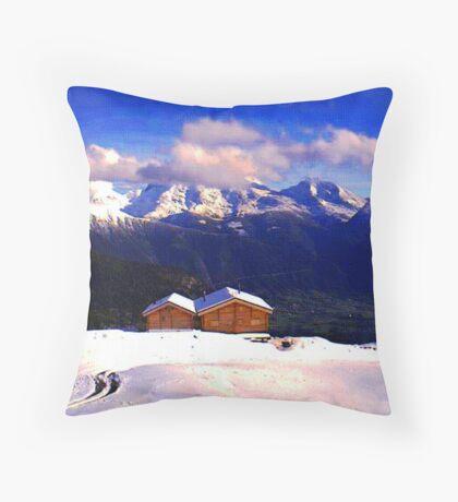 """""""Chalet - Zurich, Switzerland"""" Throw Pillow"""