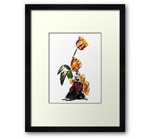 Lady flower Framed Print