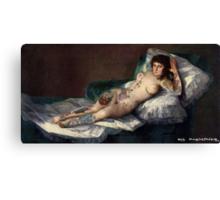 Maja's Goya as a suicide girl Street Art  Canvas Print