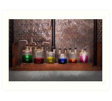 Science - Chemist - Glassware for couples Art Print