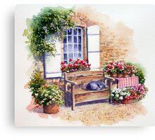 Sunny snooze Canvas Print