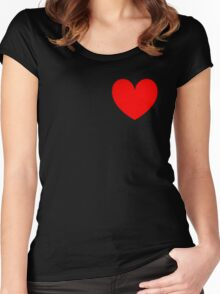 Simple Heart Women's Fitted Scoop T-Shirt
