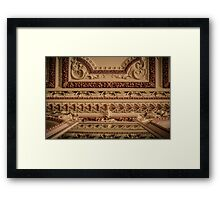 The Rather Grand Ceiling Framed Print