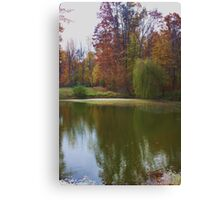 WEEPING WILLOW LAKE Canvas Print