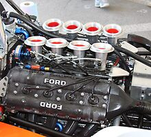 Vintage Formula V8 Engine Ford Cosworth by gtexpert