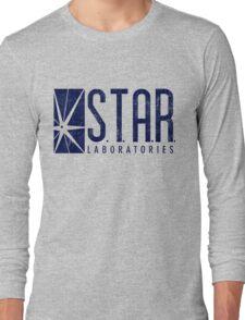 STAR Labs - Blue- Grunge Long Sleeve T-Shirt