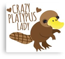 Crazy Platypus lady Canvas Print