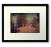 A Ride Down to the Lake Framed Print