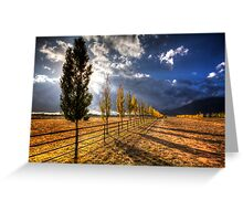 Fall Down the Line Greeting Card