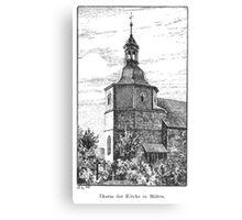 Georg Lilie Moehra Kirche Canvas Print