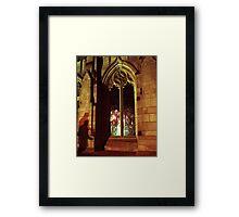 Stranger At The Church  Framed Print