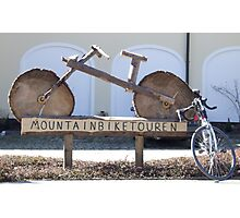Guided mountainbike tours Photographic Print