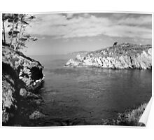 #1066 - Cove At Point Lobos   (B&W) Poster