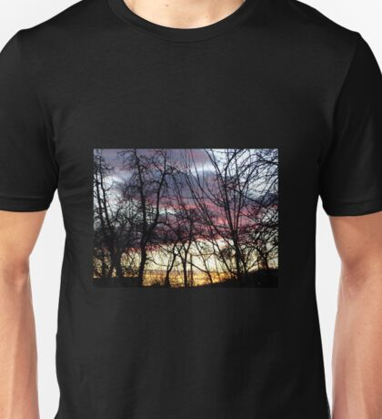 Across the glowing skies someone is watching over you Unisex T-Shirt