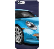 Porsche 911 991 blue Painting iPhone Case/Skin