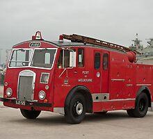 0285 Little Red Fire Truck by DavidsArt