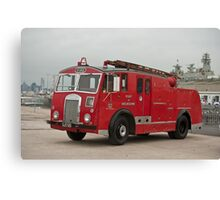 0285 Little Red Fire Truck Canvas Print
