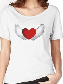Heart with Wings Women's Relaxed Fit T-Shirt