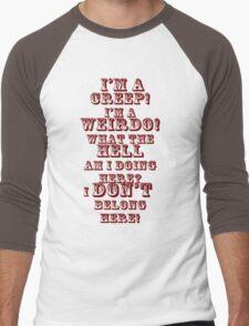 creep red Men's Baseball ¾ T-Shirt