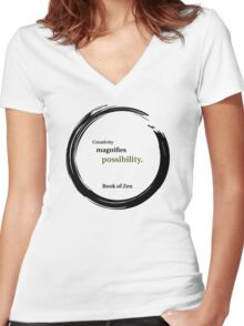 Inspirational Quote About Creativity Women's Fitted V-Neck T-Shirt