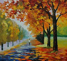 ENDLESS FALL - LEONID AFREMOV by Leonid  Afremov