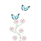 Butterfly and Flower - iPhone Case by Kimberly Palmer