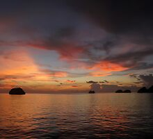 Sunset at Wayag by Dr Andy Lewis