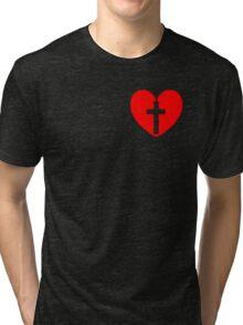 Christian Heart Tri-blend T-Shirt