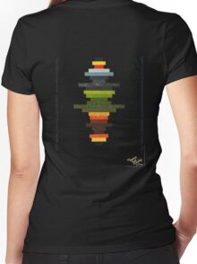 The Obfuscated Cross  (T-shirt) Women's Fitted V-Neck T-Shirt