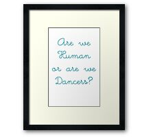 mrb blue Framed Print