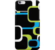 Lime Green, Turquoise and White Retro Square iPhone Case/Skin