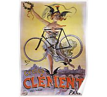Cycles Clément 1898 Vintage Advertising Poster Poster