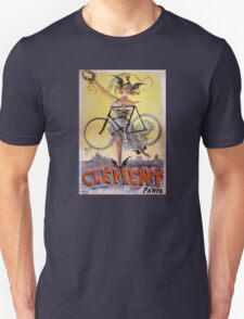 Cycles Clément 1898 Vintage Advertising Poster Unisex T-Shirt