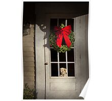 Winter - Christmas - Clinton, NJ - Christmas puppy  Poster