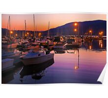 Canada. British Columbia. Kelowna. Lake Okanagan. Sunset. Poster