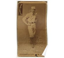 Benjamin K Edwards Collection Abner Dalrymple Pittsburgh Alleghenys baseball card portrait 003 Poster