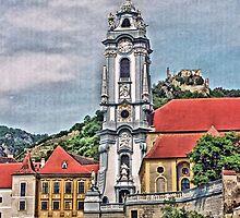 Pfarrkirche  - Parish Church, Durnstein, Austria by Lee d'Entremont