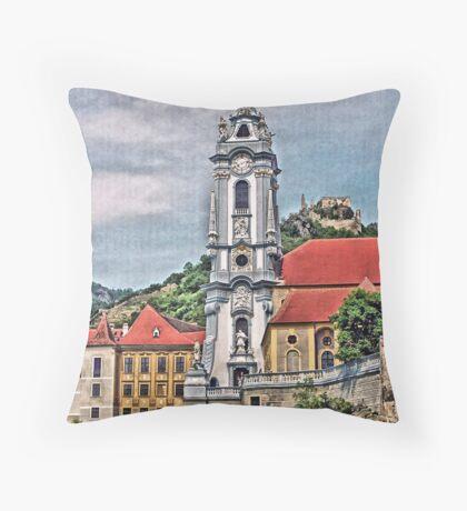Pfarrkirche  - Parish Church, Durnstein, Austria Throw Pillow