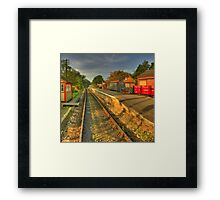 You can only come to the morning through the shadows Framed Print