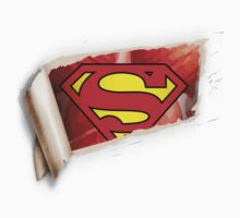 Superman Skin Tear Rip Logo Tattoo!! NEW!!!! by illmatica